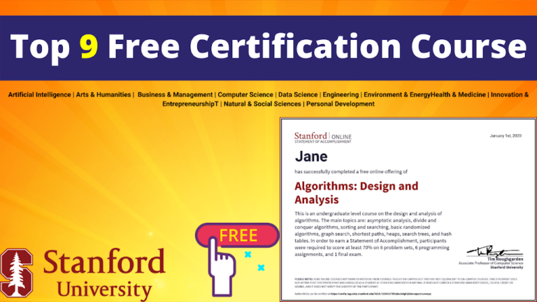 Top Stanford university Free Courses