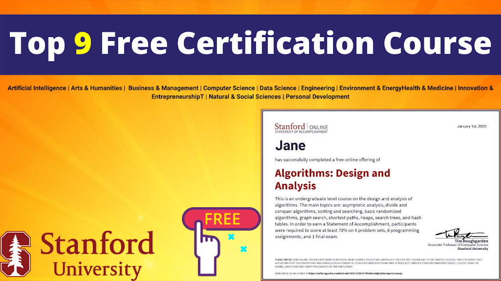 Stanford university Free Courses
