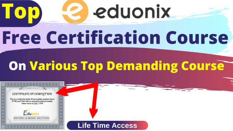 Top Free Certification Course By Eduonix